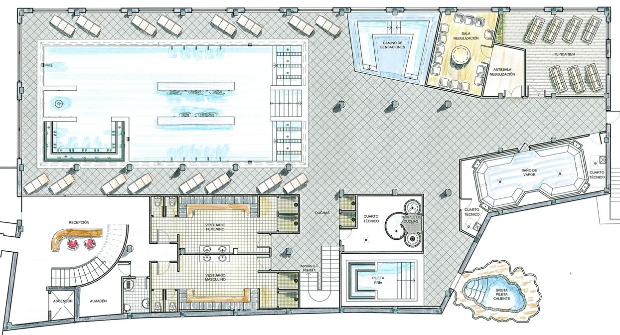 Balneario paracuellos de jiloca hidroterapia spa for Plano de cocina hotel 5 estrellas