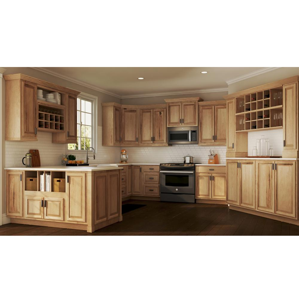 Hampton Bay Hampton Assembled 18x84x24 In Pantry Kitchen Cabinet In Natural Hickory Kp1884 Nhk The Home Depot Kitchen Design Kitchen Cabinet Trends Hickory Kitchen Cabinets