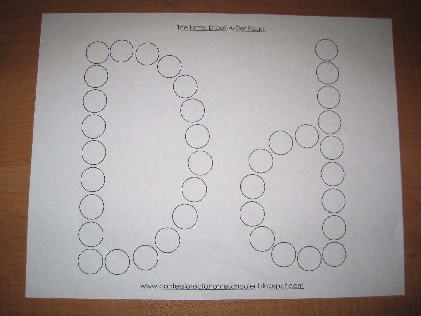 Letter D Dot Page