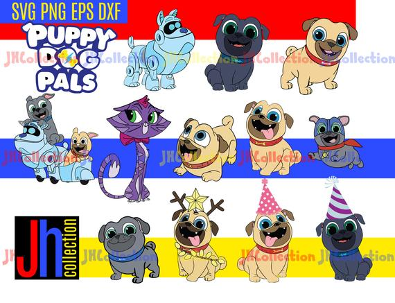 Puppy Dog Pals Svg Files Rolly Bingo Hissy Clipart Puppy Dog Pals