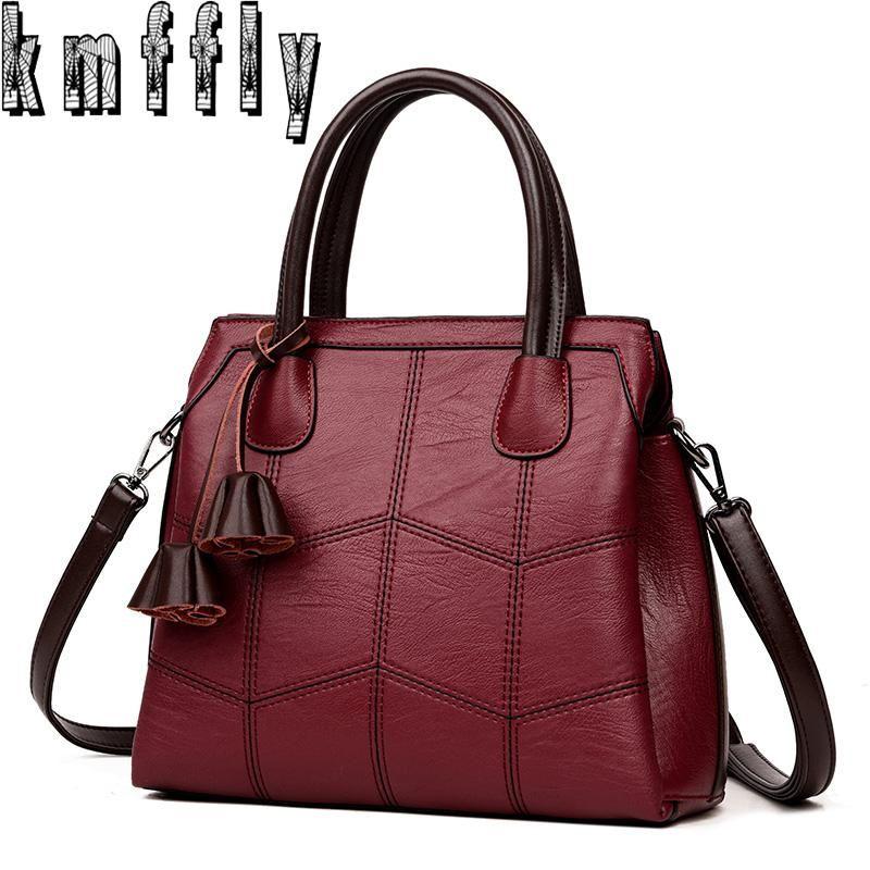53cc935abd15 KMFFLY Brand Women Bags Genuine Leather Bags 2018 fashion Women Handbags  High Quality Sheepskin Shoulder Bags Ladies Sac A Main
