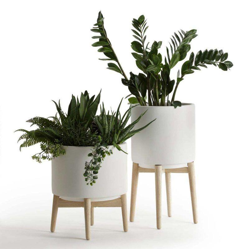 Cache Pot Sur Pied Et Support Pour Plante 24 Idees Deco Pot De Fleur Interieur Idee Deco Salle De Bain Blanche Comment Decorer Une Salle De Bain