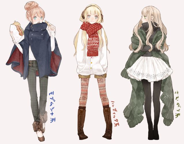 Anime For Gt Anime Girl Winter Outfit Clothing References
