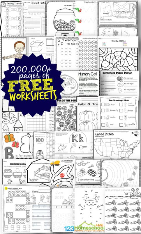 1 Million Free Worksheets For Kids Free Worksheets For Kids Homeschool Worksheets Homeschool Worksheets Free