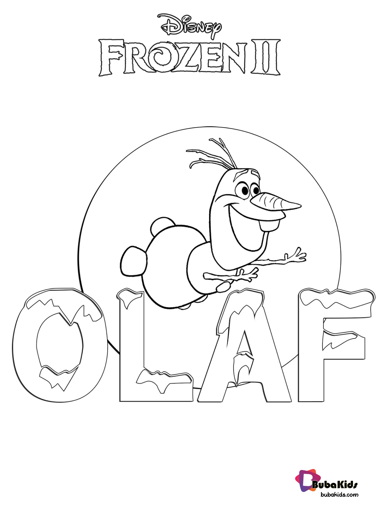 Frozen 2 Olaf The Snowman Coloring Page Coloring Page Frozen 2 Olaf The Snowman Printa Snowman Coloring Pages Frozen Coloring Pages Cartoon Coloring Pages
