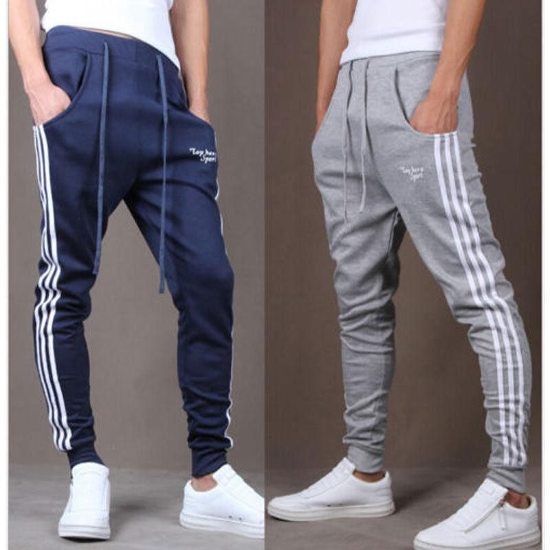 Men sportswear Pants Casual Elastic Cloth Mens Fitness Workout Loose  Sweatpants 97615f34c3d