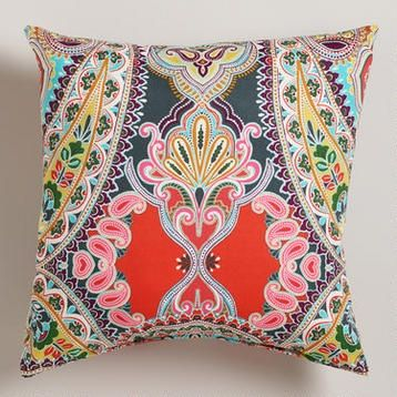 Warm Venice Paisley Outdoor Throw Pillow At Cost Plus World Market U003eu003e  #WorldMarket Outdoor