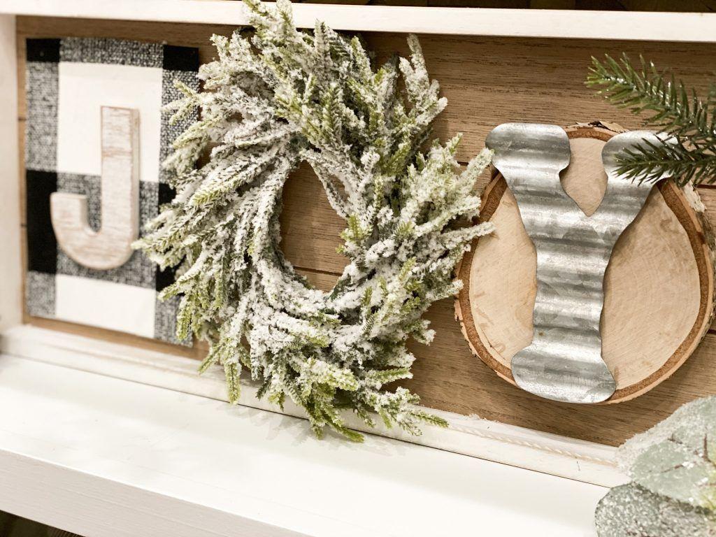 How to make a simple Joy Christmas Sign | Christmas signs, Christmas crafts diy, Christmas ...