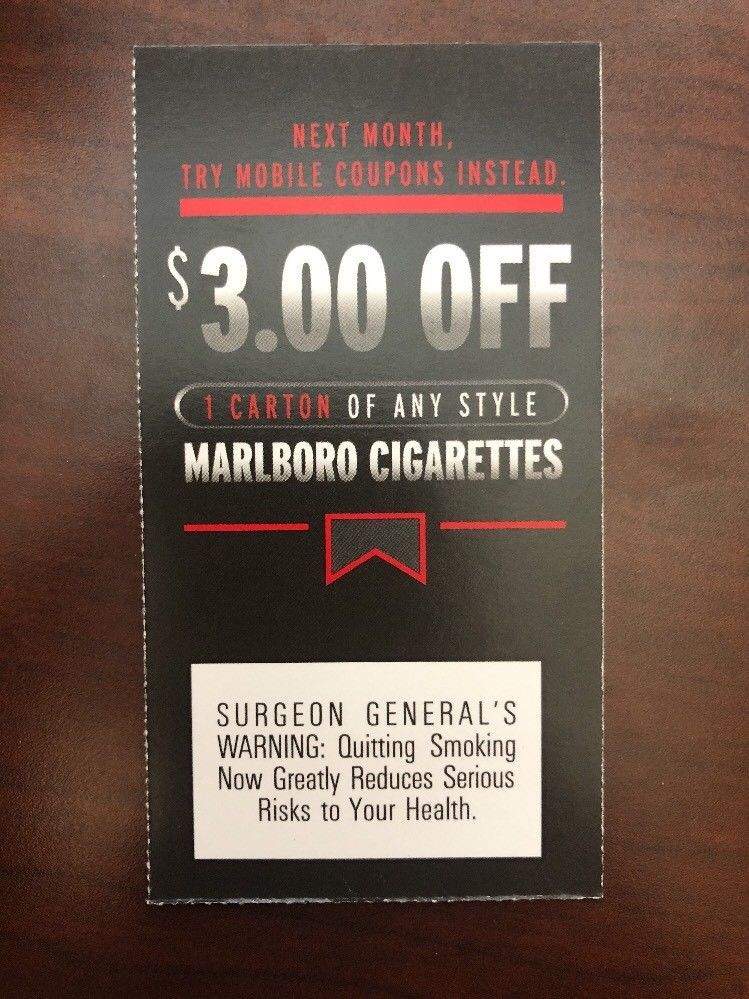 Marlboro Coupons: $0 49 (0 Bids) End Date: Monday Jan-7-2019