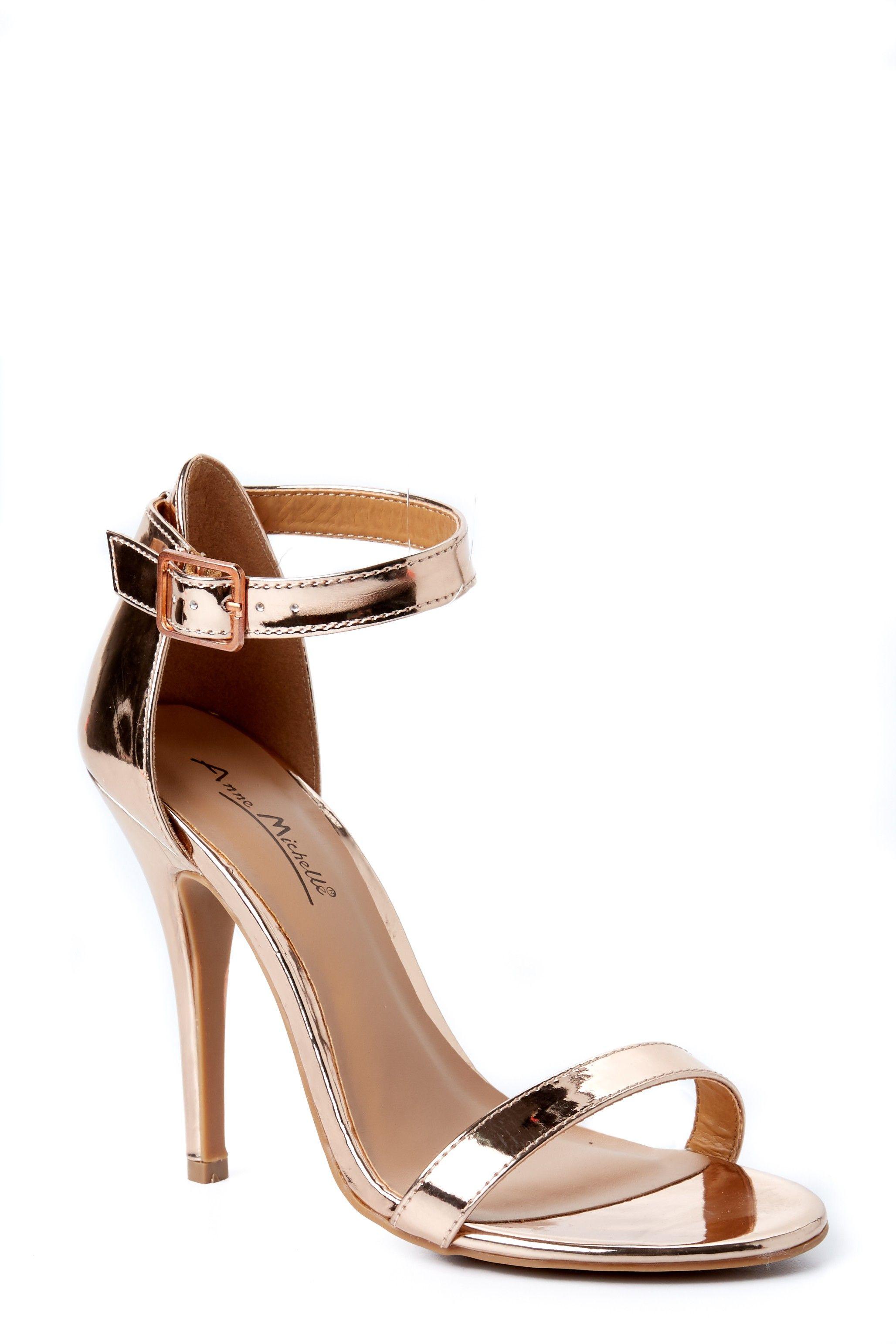 28216ff572048c Totally Timeless Rose Gold Ankle Strap Heels at reddressboutique.com