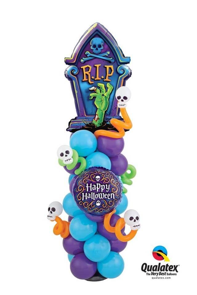 Skeleton Filigree and Tombstone Microfoil Balloon Decor