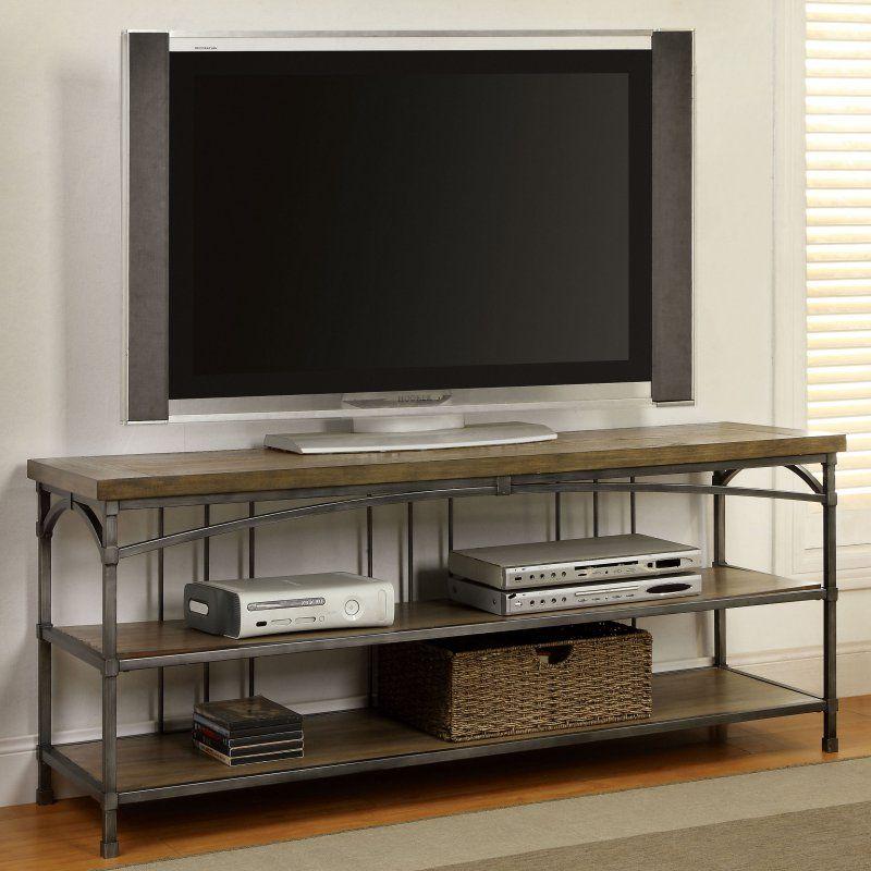 Furniture Of America Genoa Industrial 60 In Tv Console Idf 5223