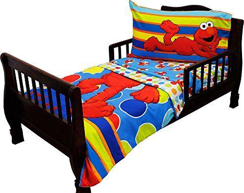 Sesame Street Toddler Bedding Elmo Polka Dots Comforter Click Image For More Details