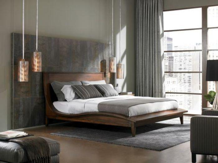 Pendelleuchte Schlafzimmer ~ Attraktive pendelleuchten im gemütlichen modernen schlafzimmer