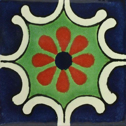Traditional Mexican Tile – Arabesque Azul
