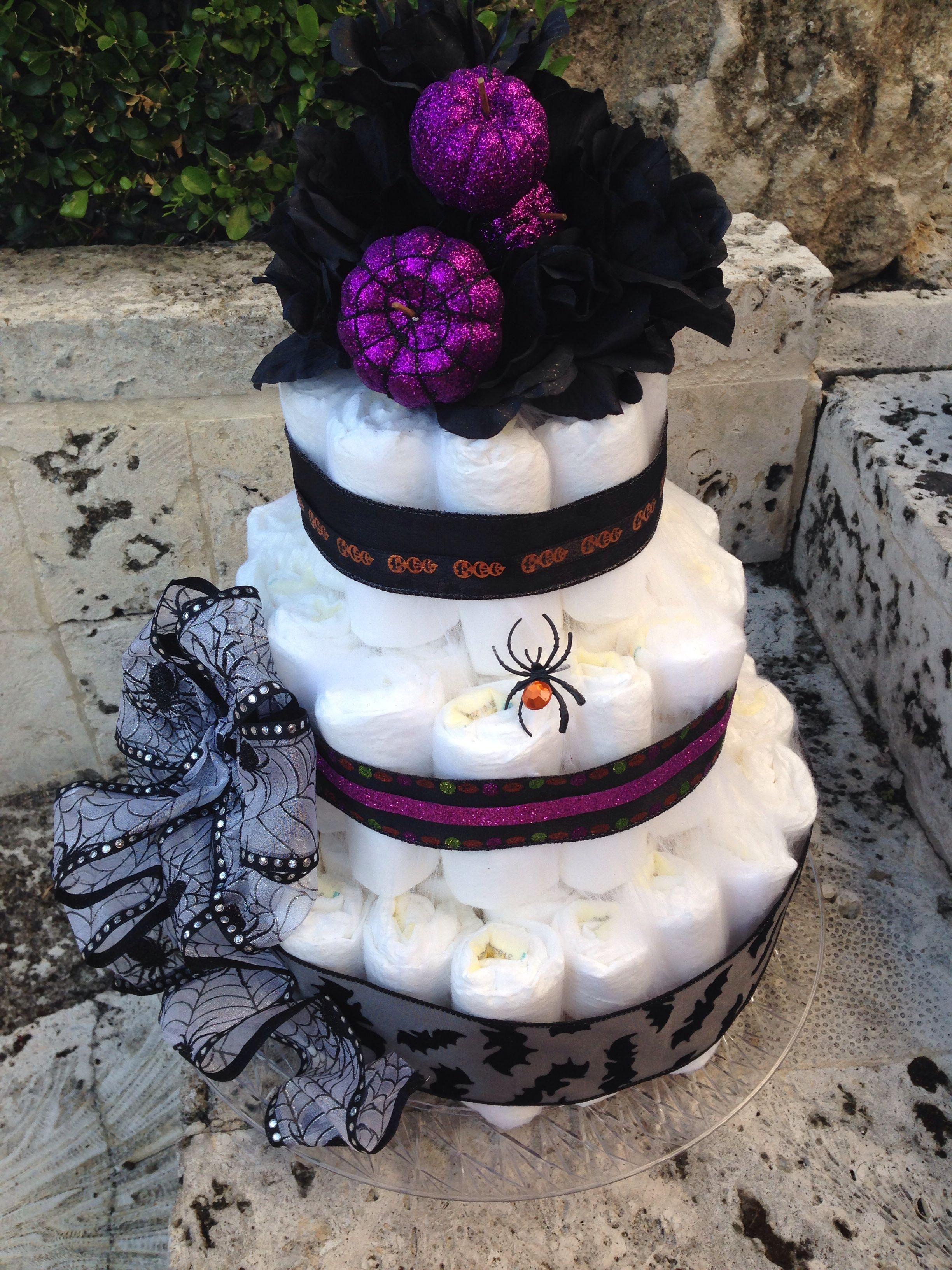 Halloween nightmare before Christmas diaper cake | Crafts ...