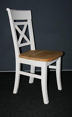 kuchenstuhl stuhle stuhl esszimmerstuhle holz kiefer massiv weiss gebeizt geolt ebay