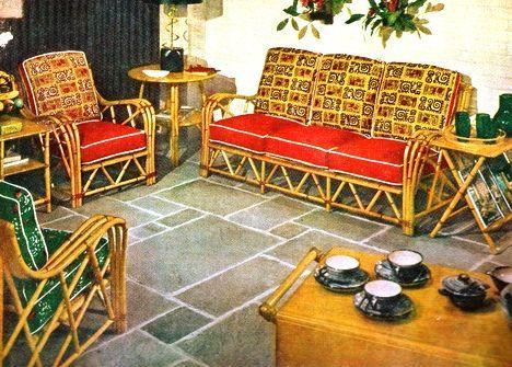 Tiki Architecture: Ashcraft Exotic Furniture By Heywood Wakefield