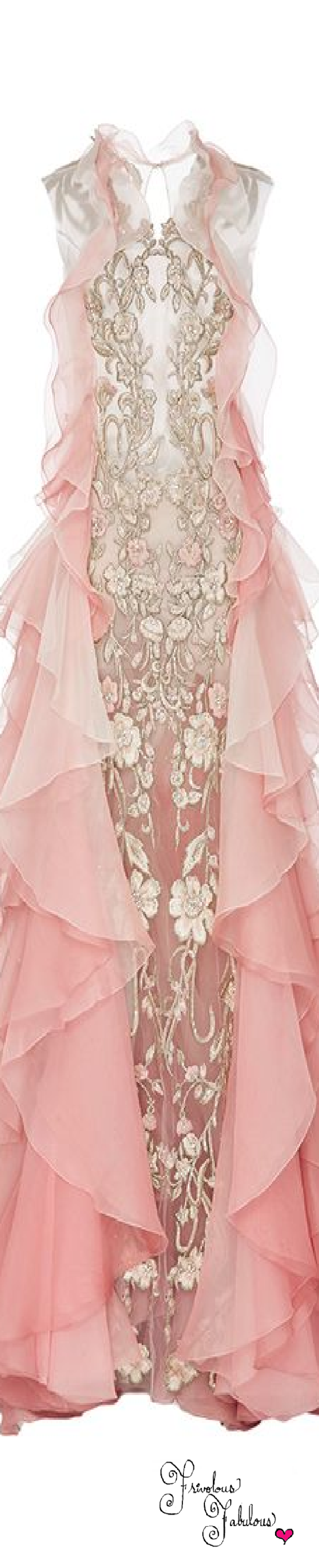Frivolous Fabulous - Marchesa Ombre Gown with Organza Layers  Fall Winter 2016