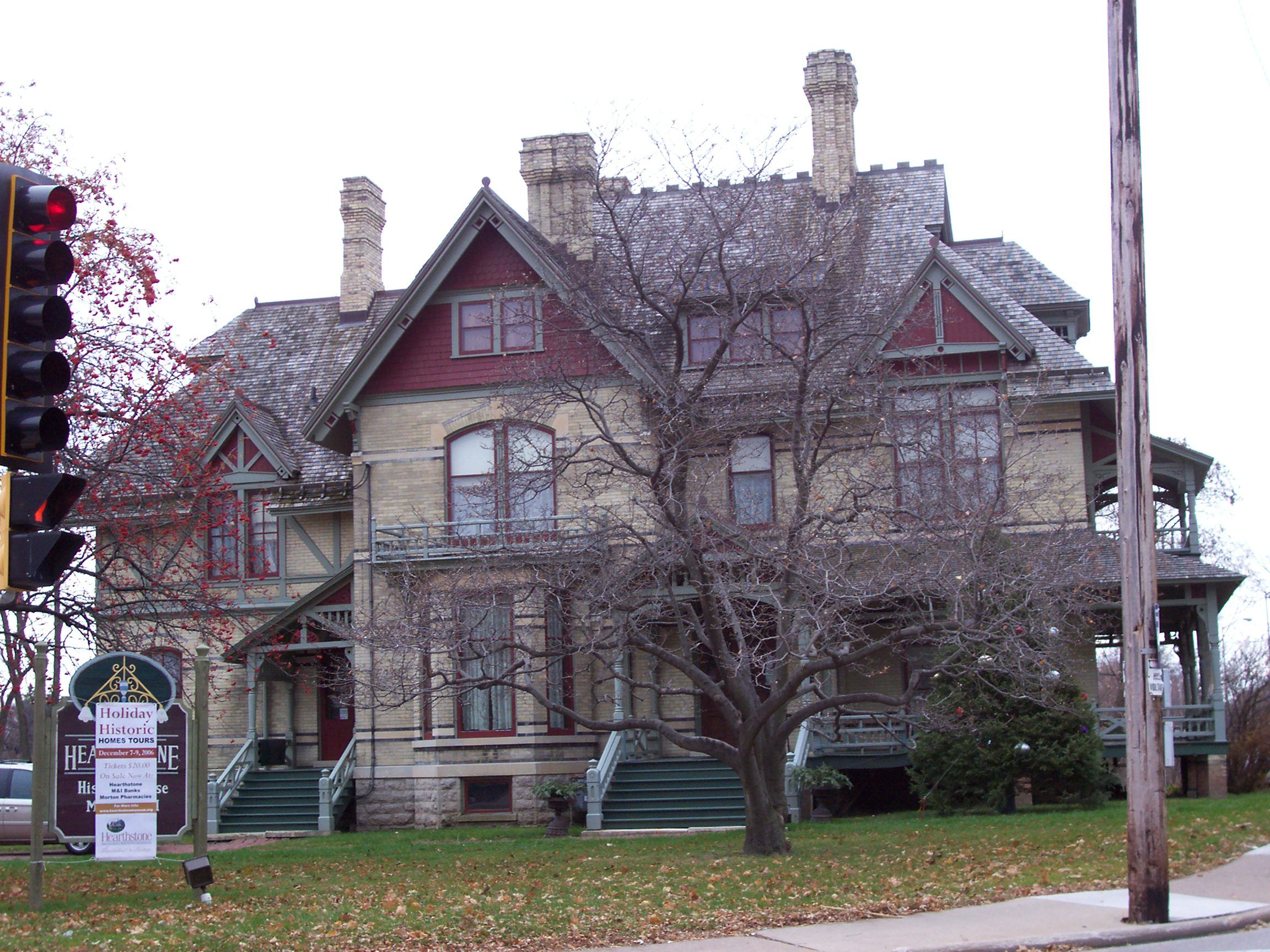 The hearthstone historic house museum is a historic home for Home builders appleton wi