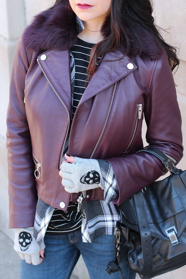 Burgundy Leather Jacket Burgundy leather jacket, Leather