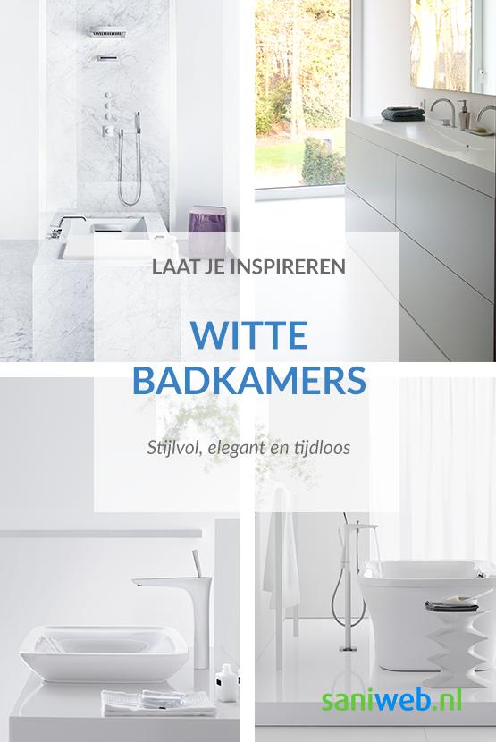 Ben jij ook fan van de tijdloze uitstraling van een witte badkamer ...