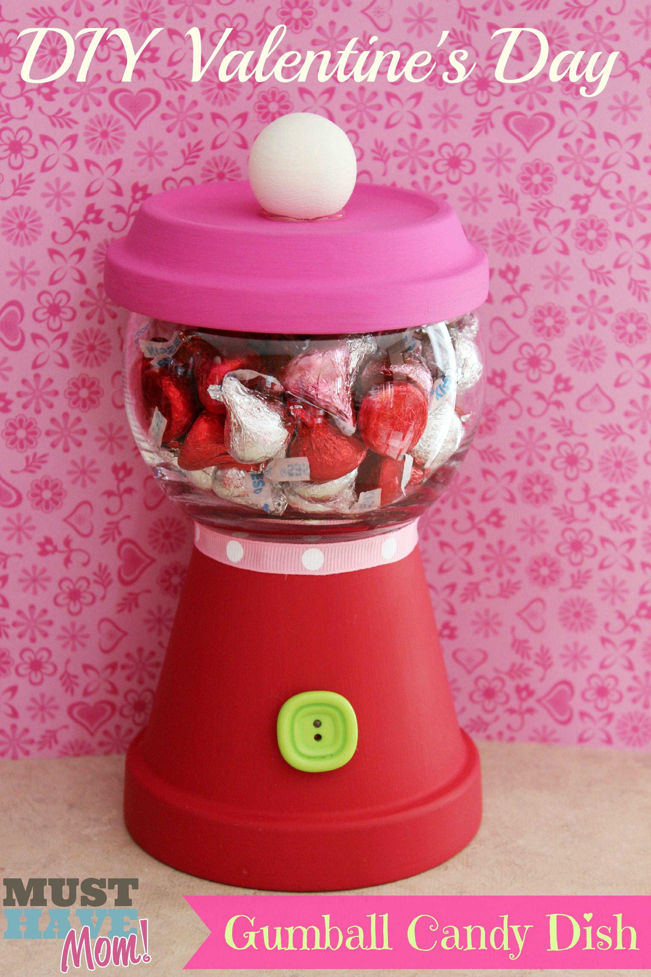 diy valentines day gumball candy dish teacher gift for under 5 - Valentines Day Ideas For Teachers
