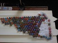 DIY: New Hampshire Map from Bottle Caps!