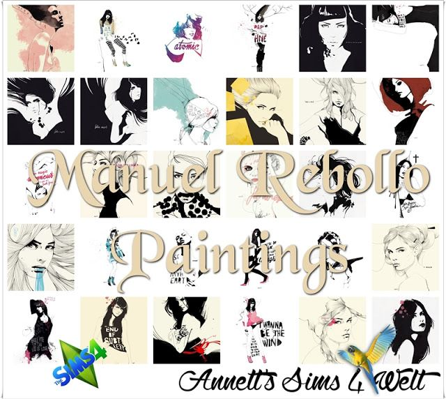 Sims 4 CC's - The Best: Manuel Rebollo Paintings by Annett85
