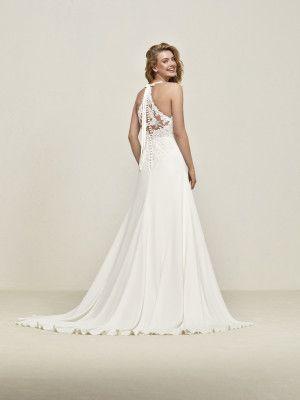 vestido de novia escote halter con encaje | bodas | pinterest