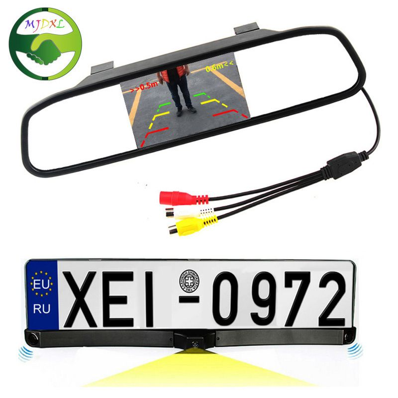 3in1 HD CCD European Russia License Plate Frame Car Rear View Camera ...