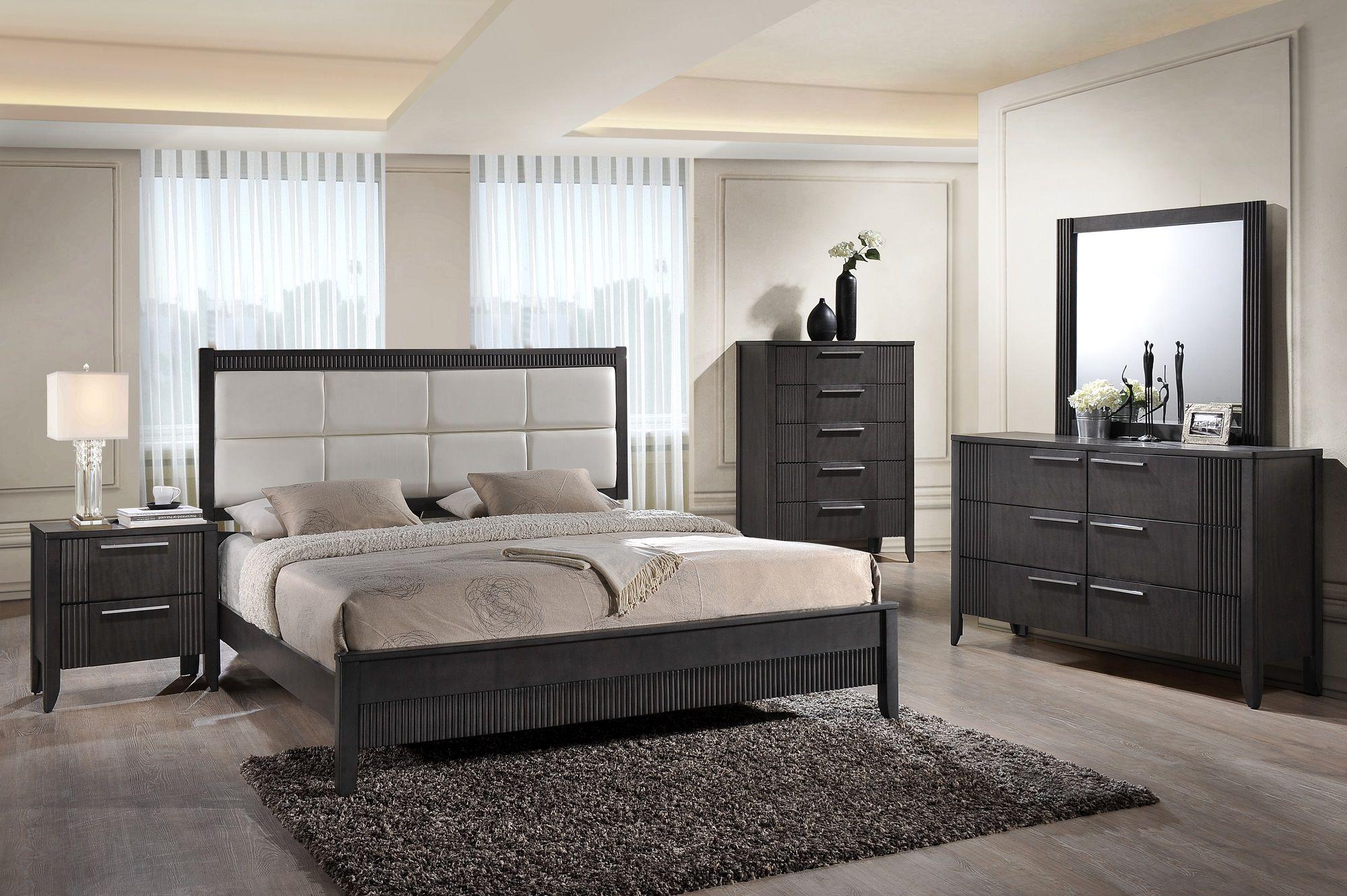 Ensemble de mobiliers de chambre avec lit queen u incluant lit