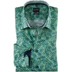 Photo of Olymp Level Five shirt, body fit, New York Kent, green, 40 Olymp