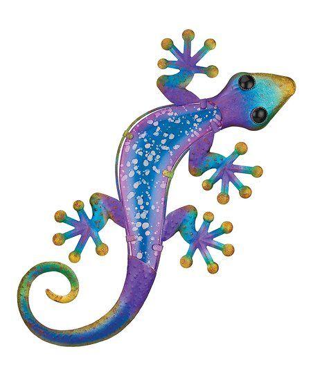 Gecko Wall Art Blue & Purple Watercolor Gecko Wall Art  Zulily  Lizard