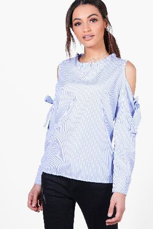 014a19630acdc #boohoo Gingham Cold Shoulder Woven Tie Sleeve Top - #Isla Gingham Cold  Shoulder Woven