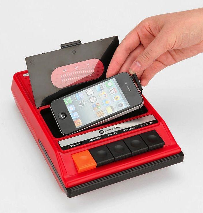 irecorder altavoz con forma de cassette para iphone gadgets pinterest iphone