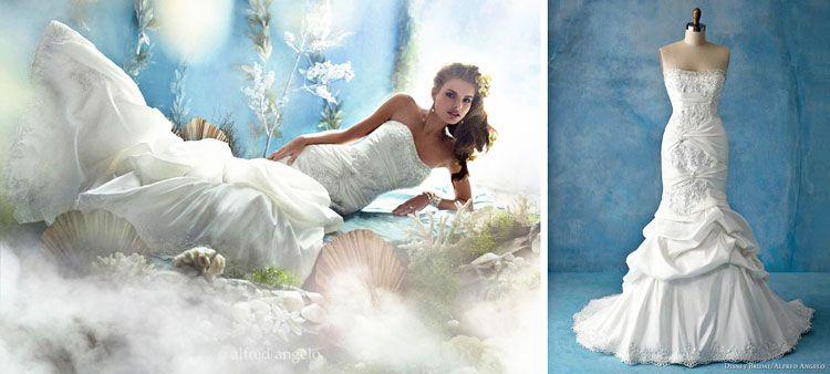 Disney S Ariel The Little Mermaid Inspired Wedding Dress Alfred Ange Disney Princess Wedding Dresses Disney Wedding Dresses Disney Inspired Wedding Dresses