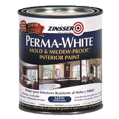 Superieur Satin Perma White Mold And Mildew Proof Interior Paint Qt