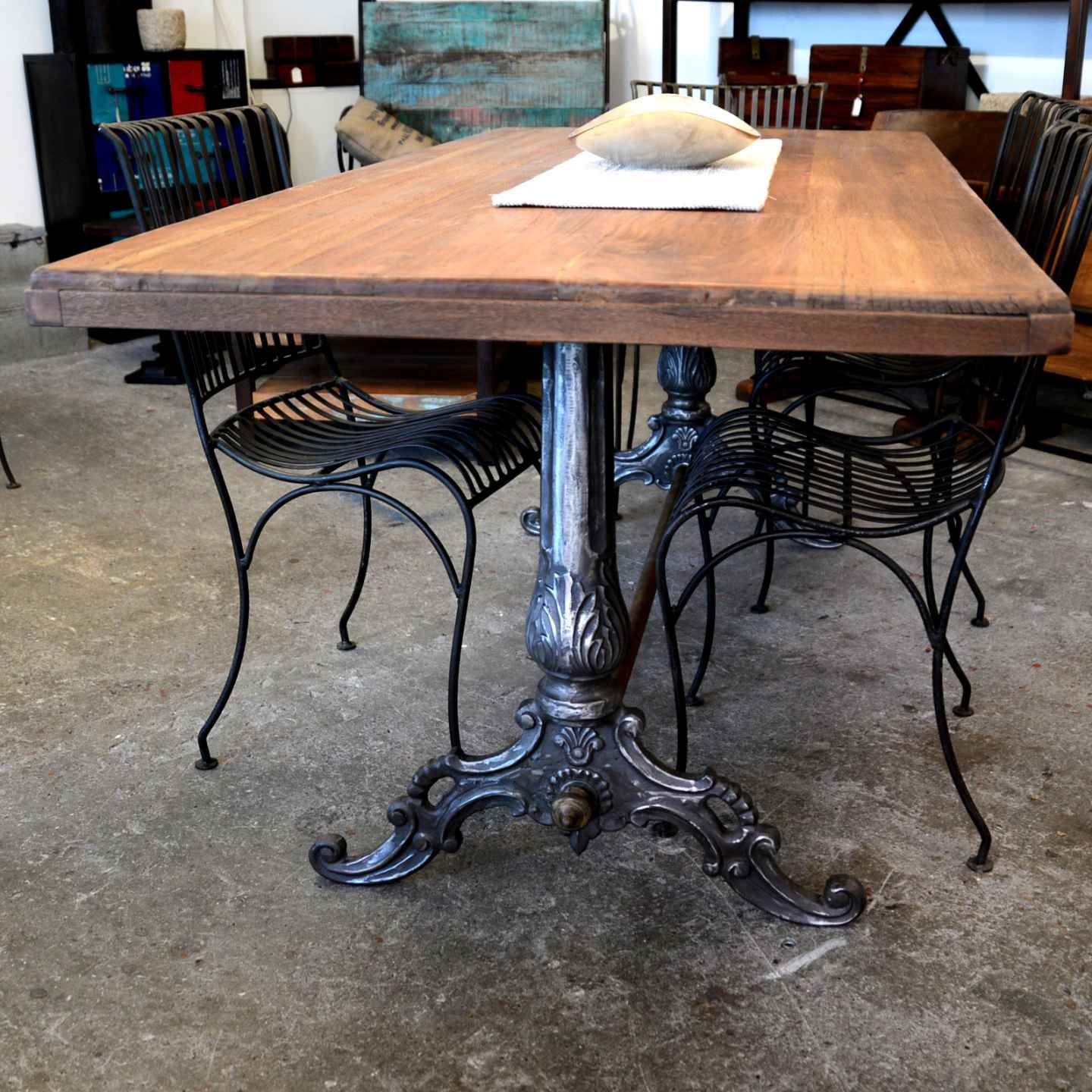 industrial baroque tisch | wood factory - vintage industrial shabby