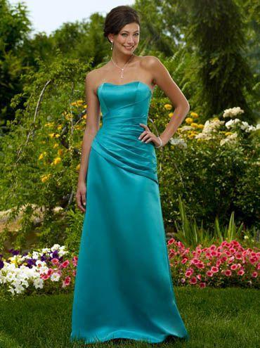 c1459e7c66 Vestidos de madrina palabra de honor azul turquesa