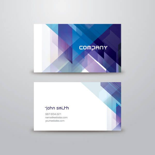 Blue abstract business card vector template free vectors blue abstract business card vector template reheart Image collections
