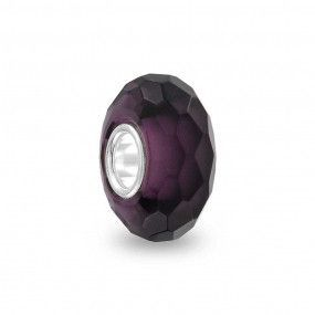 Purple Faceted Charm