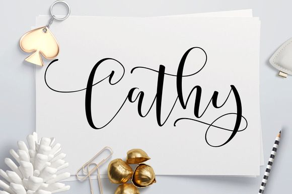 Happy Birthday Typography Cursive ~ 40% off cathy script fonts typography and font packs