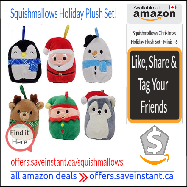 Squishmallows Christmas Holiday Plush Set Christmas Holidays Plush Holiday