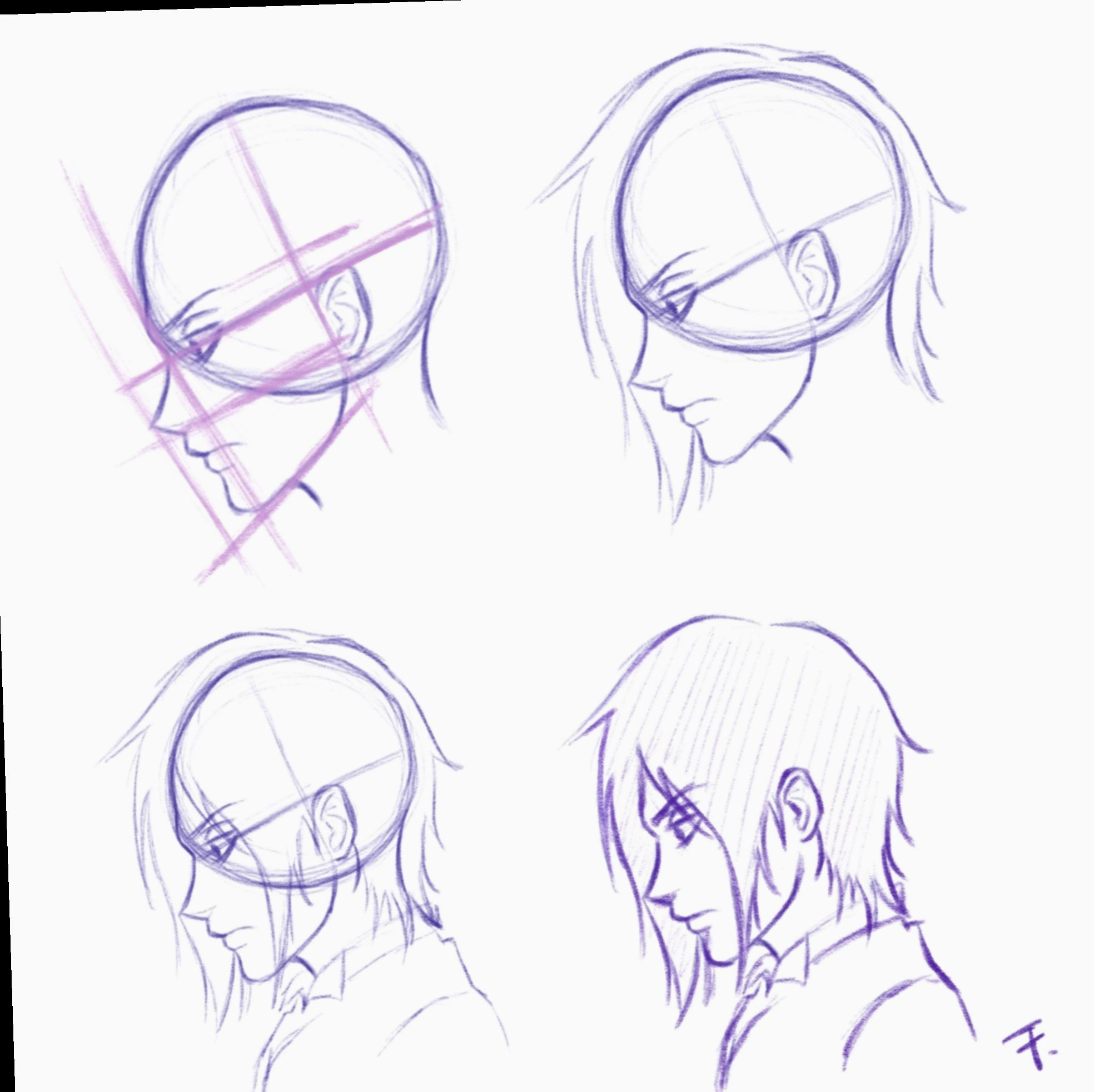 8 Anime Face Profile Drawing Tutorials Face Profile Drawing Profile Drawing Drawing Tutorial