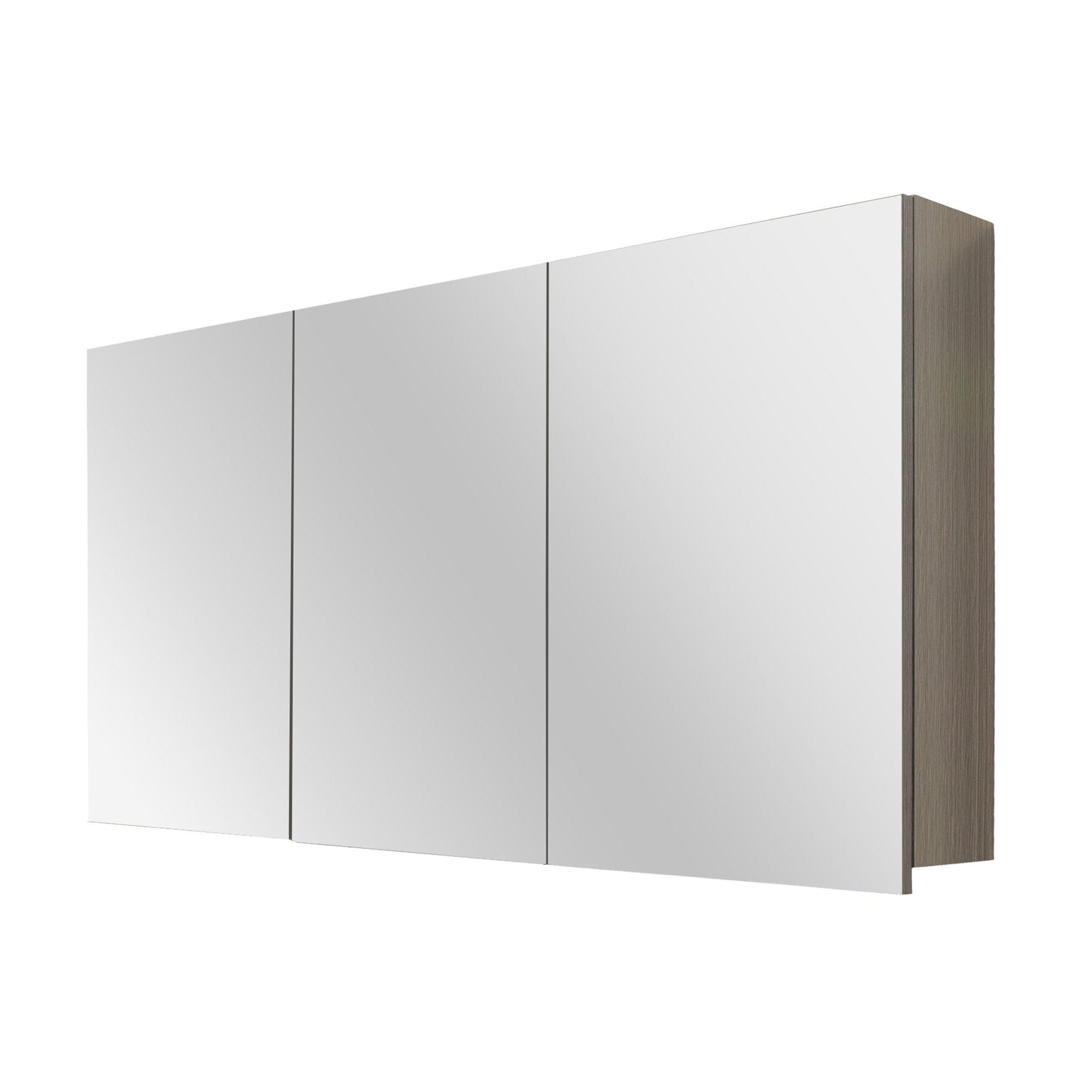 GAMMA Style spiegelkast eiken donkergrijs 120 cm   badkamer   Pinterest
