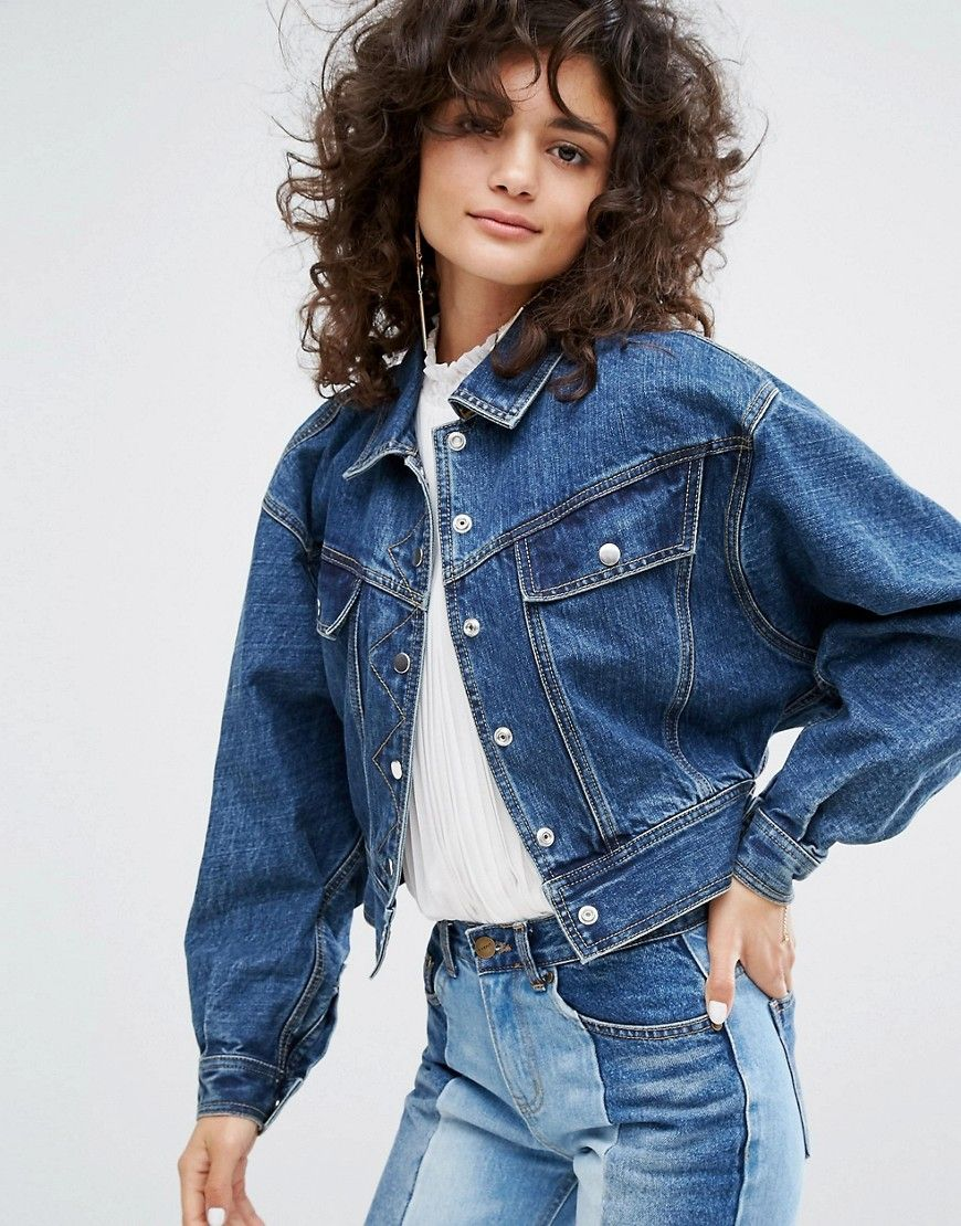 3f90f77e7bc EVIDNT EVIDNT OVERSIZED CROPPED DENIM JACKET - BLUE.  evidnt  cloth ...