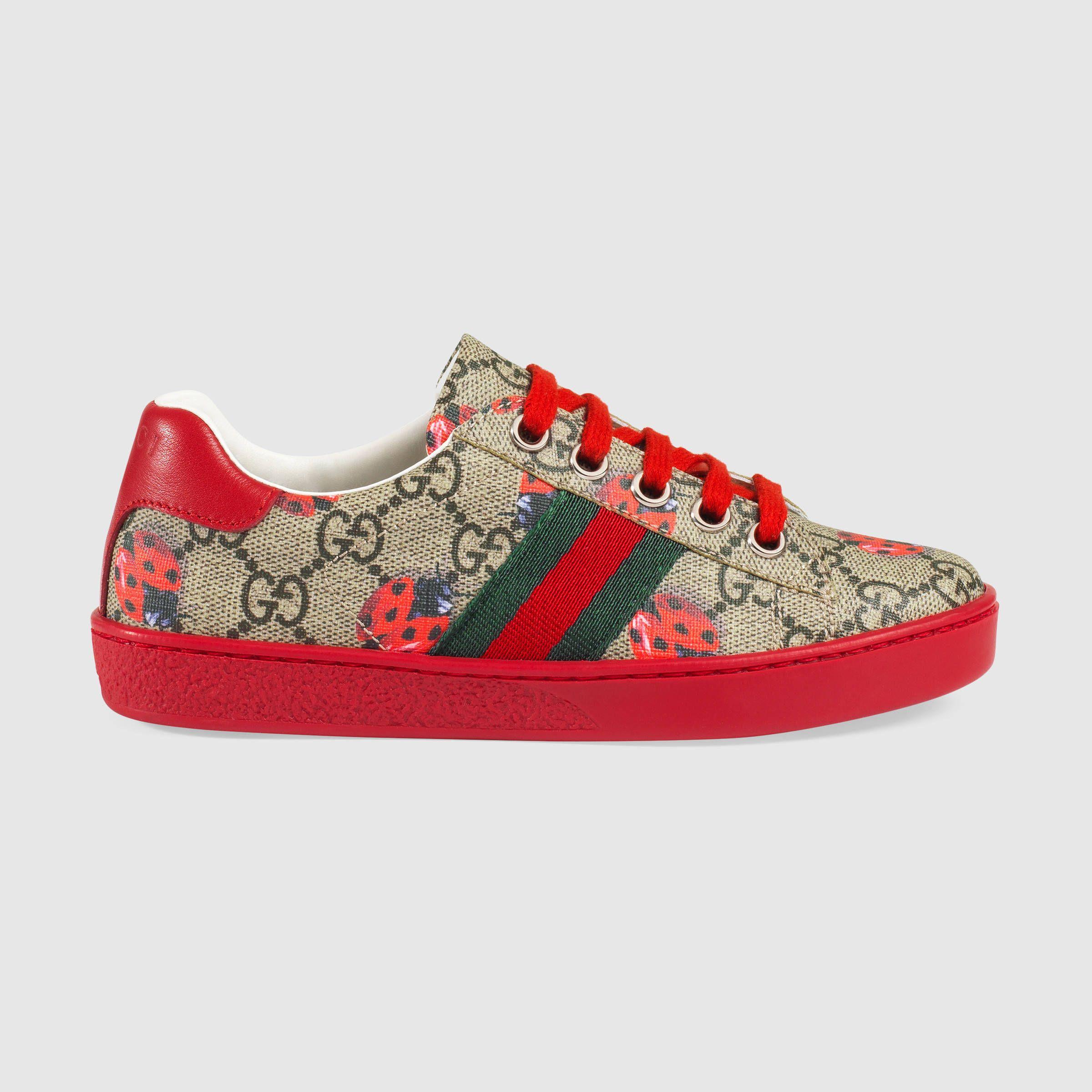 345d1a8bca7 Gucci Children - Children s GG ladybugs low-top Girls Sneakers
