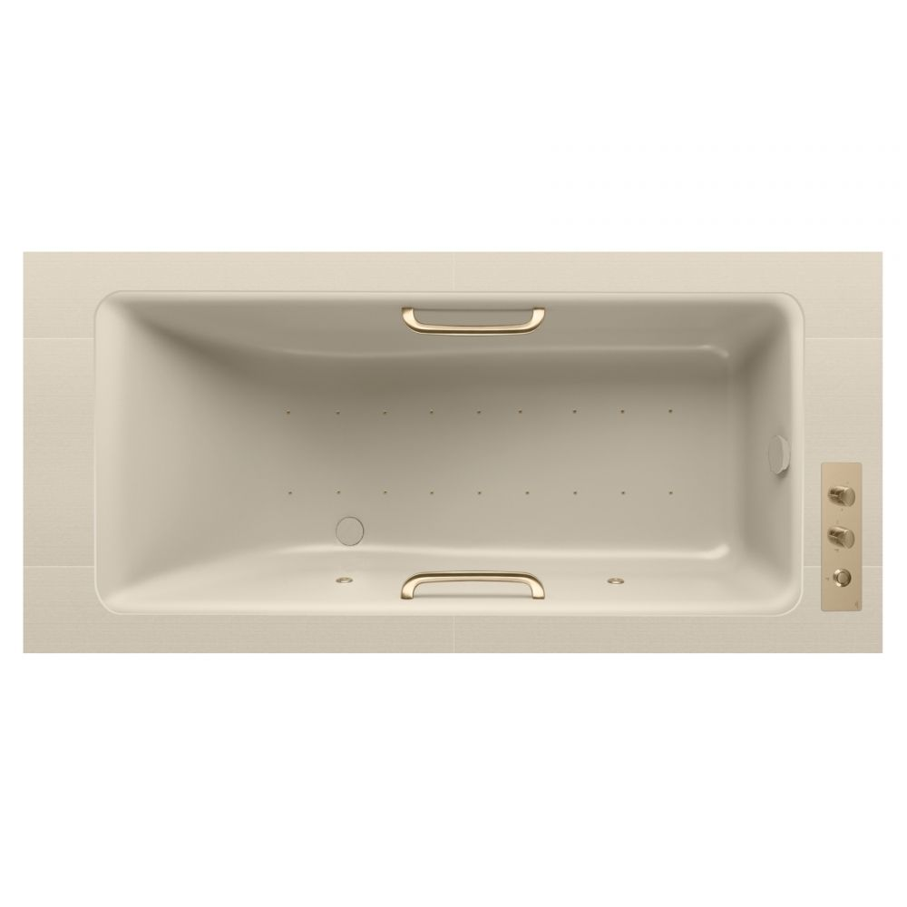Under-mount bathtub1800 x 800 mm with Soft Air massage and water ...