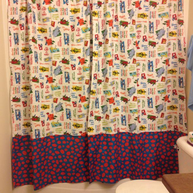 Dr Seuss Shower Curtain I Made For My Boys Bathroom Boys